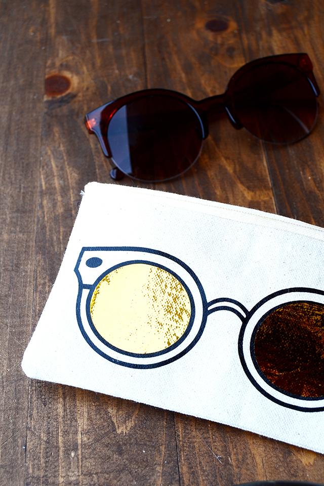 trendy hipster DIY sunglasses case