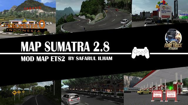 Map Sumatra v2.8  VersiTerbaru Euro Truck Simulator 2