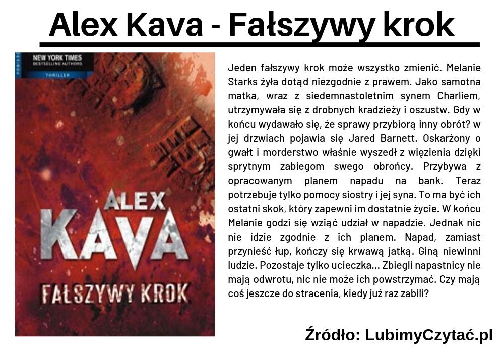 Alex Kava - Fałszywy krok, Cykl książkowy, Marzenie Literackie
