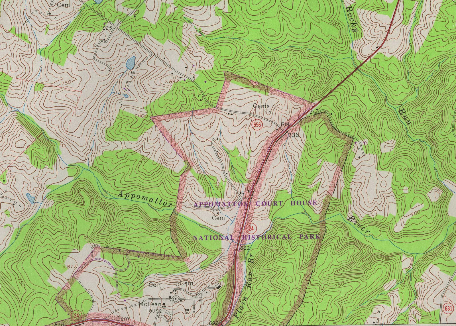 GIS Research and Map Collection: Appomattox, Virginia ...