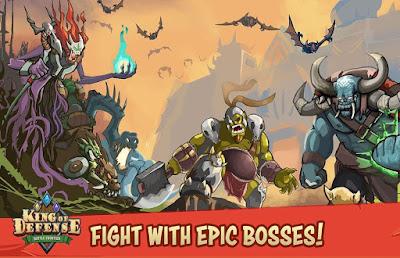 تحميل لعبة الاستراتيجية King of Defense: Battle Frontier النسخة المعدلة الكاملة للأندرويد مجانا