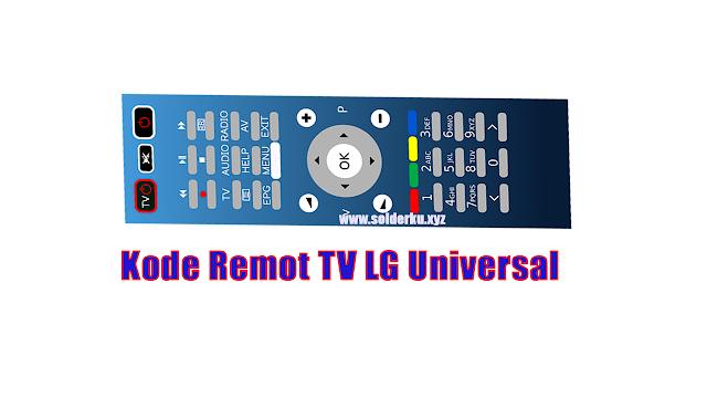 Kode Remot TV LG Universal