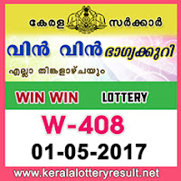 1.5.2017 Win Win Lottery W 408 Results Today