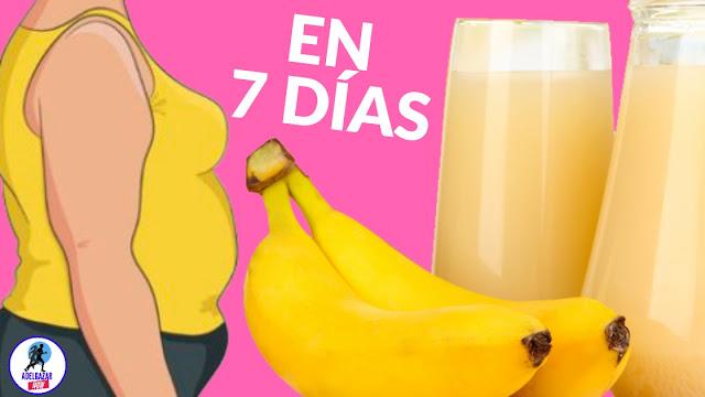 Reduce el Tamaño de tu Barriga usando la Banana de esta forma