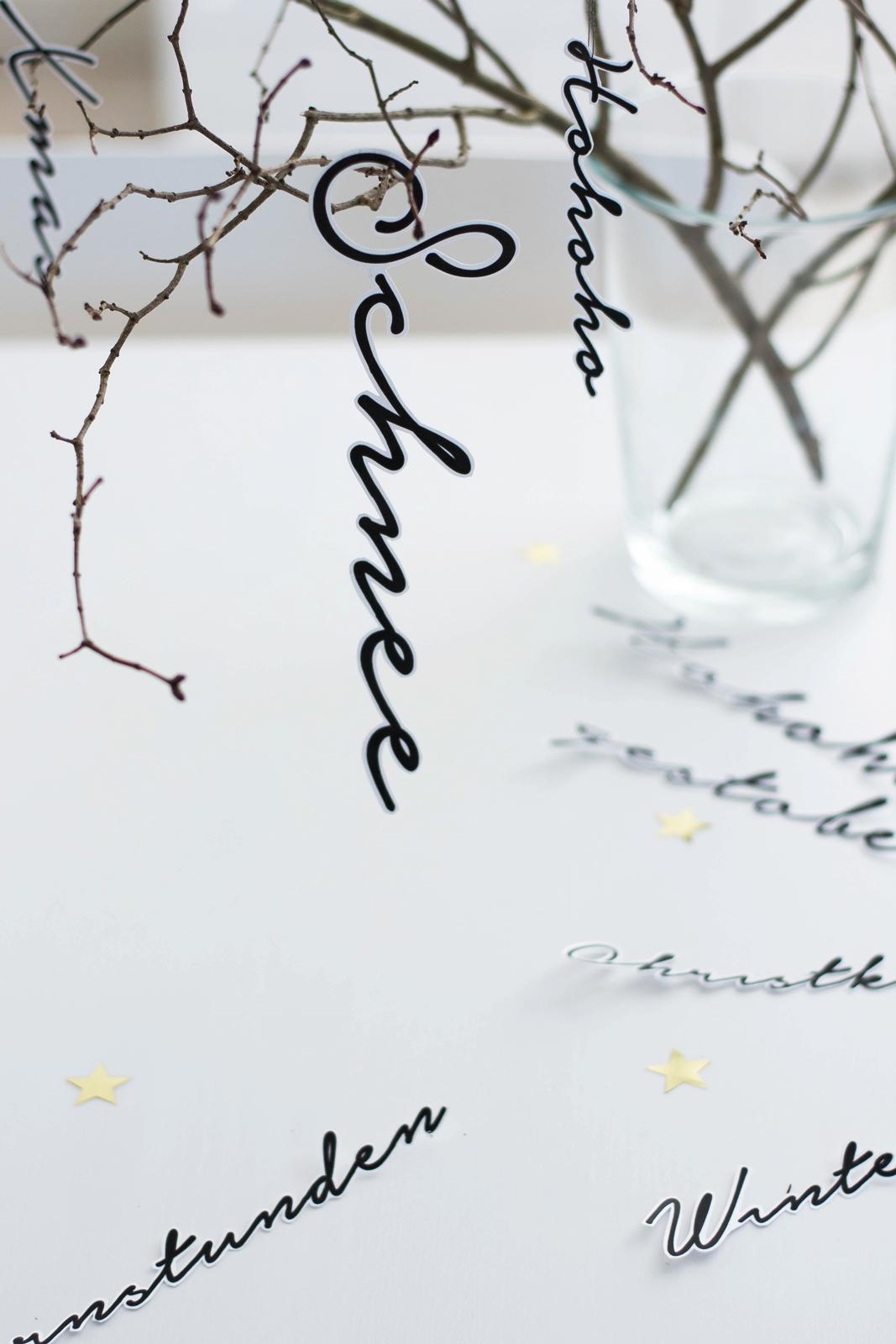 DIY Weihnachtliche Schriftzüge
