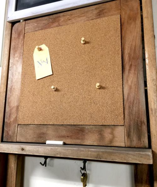 Repurposed Vintage Folding Chair Message Center