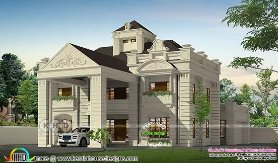Colonial model long pillar house with 5 bedrooms