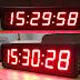 Đồng hồ treo tường led 6 số lớn - KT 20 x 60 x 5 cm