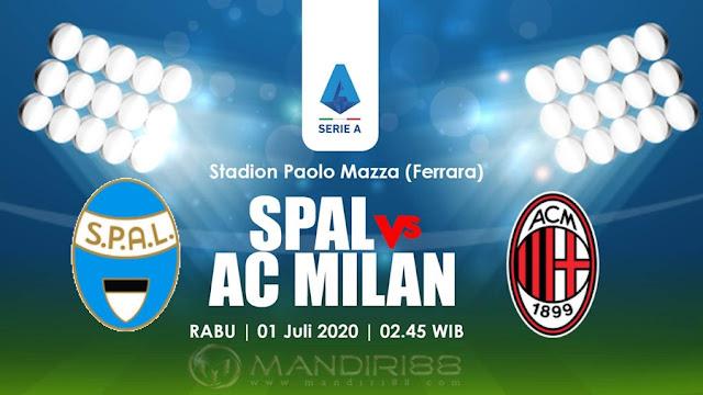 Prediksi Spal 2013 Vs AC Milan, Kamis 02 Juli 2020 Pukul 02.45 WIB
