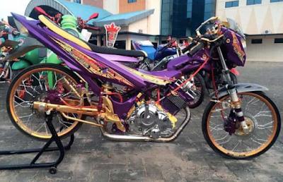 Modifikasi Drag Rice Motor Satria Fu