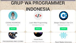 Grup wa programmer indonesia belajar coding