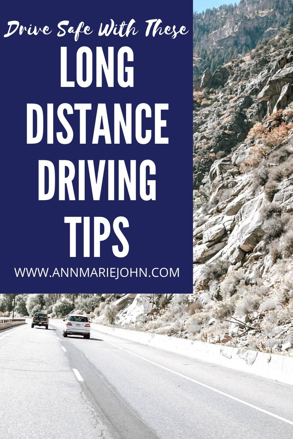 Long Distance Driving Tips Pinterest Image