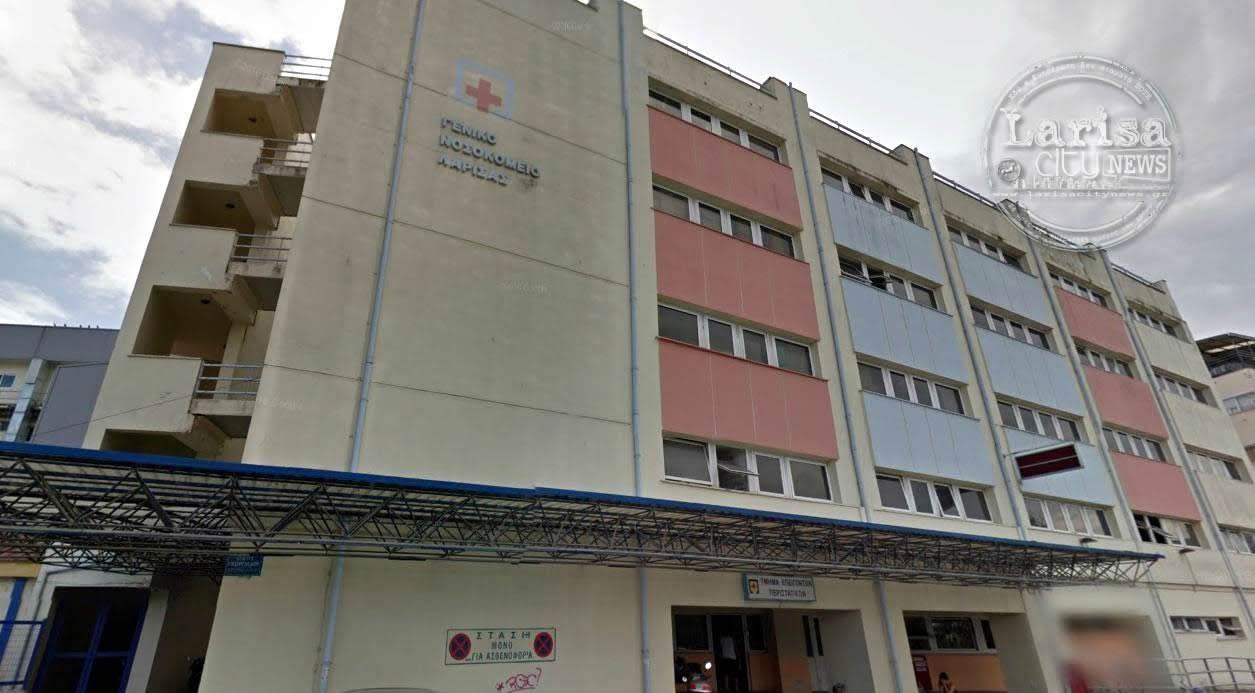 Στο Γενικό Νοσοκομείο Λάρισας οδηγός μοτοσικλέτας μετά από τροχαίο ατύχημα στην οδό Βόλου