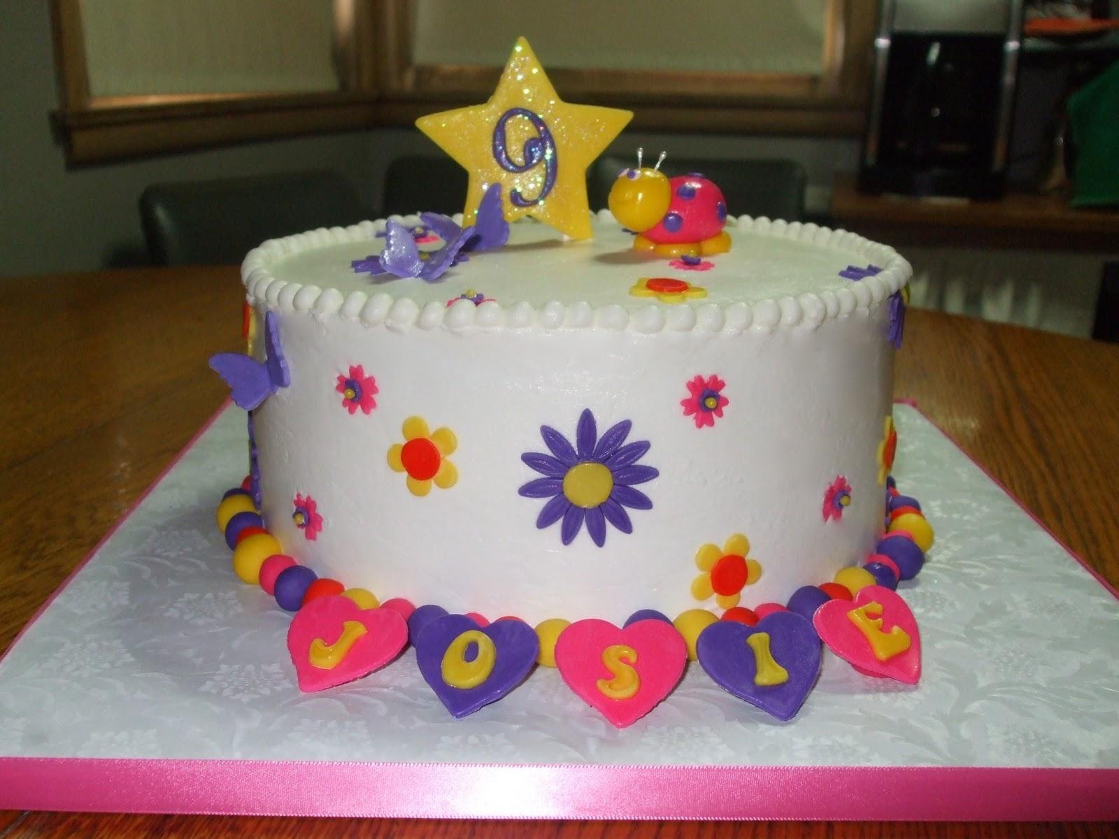 Cakes by Paula Little girls 9th Birthday