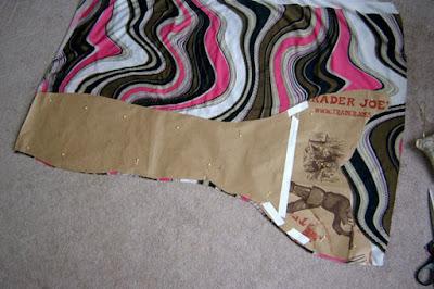pink brown white mermaid fabric tail