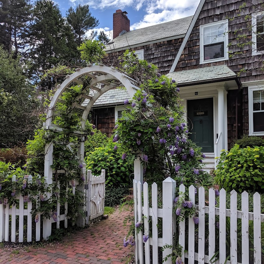 Portland, Maine USA June 2019 photo by Corey Templeton. A house on Danforth Street with some curb appeal.
