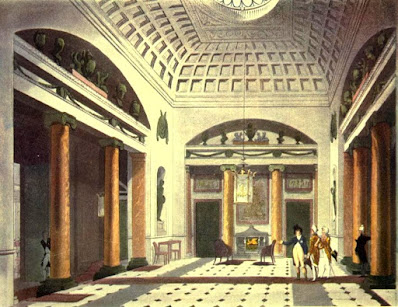 The Hall, Carlton House, from the Microcosm of London by R Ackermann and WH Pyne (1808-10)