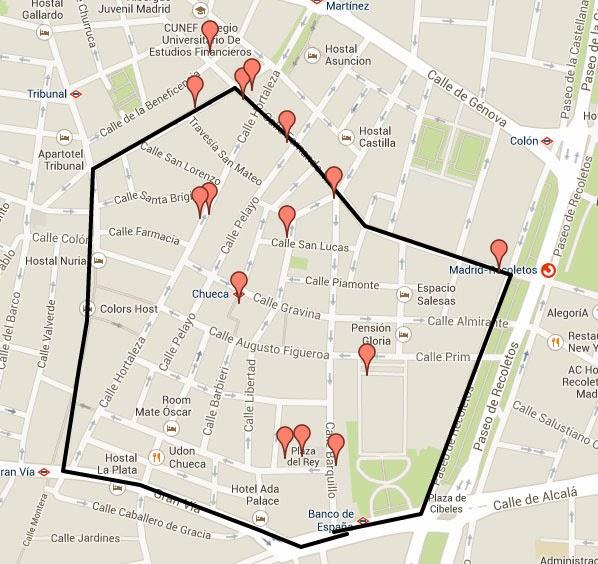 Barrio Chueca Madrid Mapa.Chueca Madrid Mapa Mapa