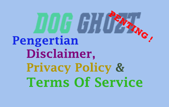 Pengertian Disclaimer, Privacy Policy dan Terms Of Service