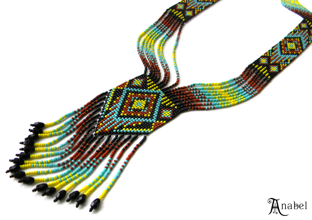 купить украшения из бисера этника подарок девушке женщине