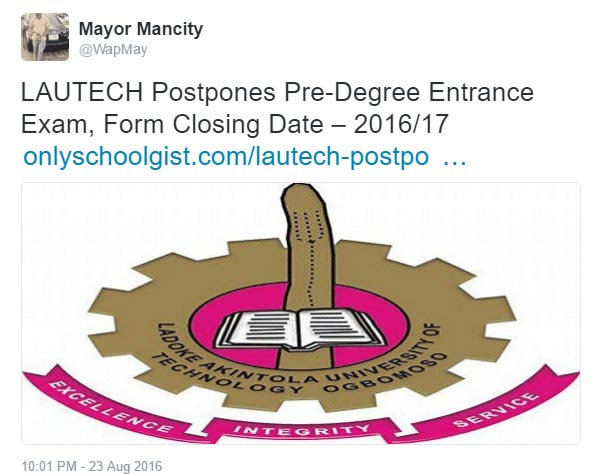 This LAUTECH logo though...