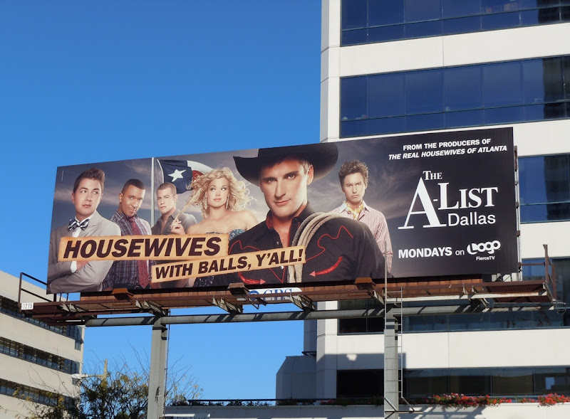 The A-List Dallas billboard