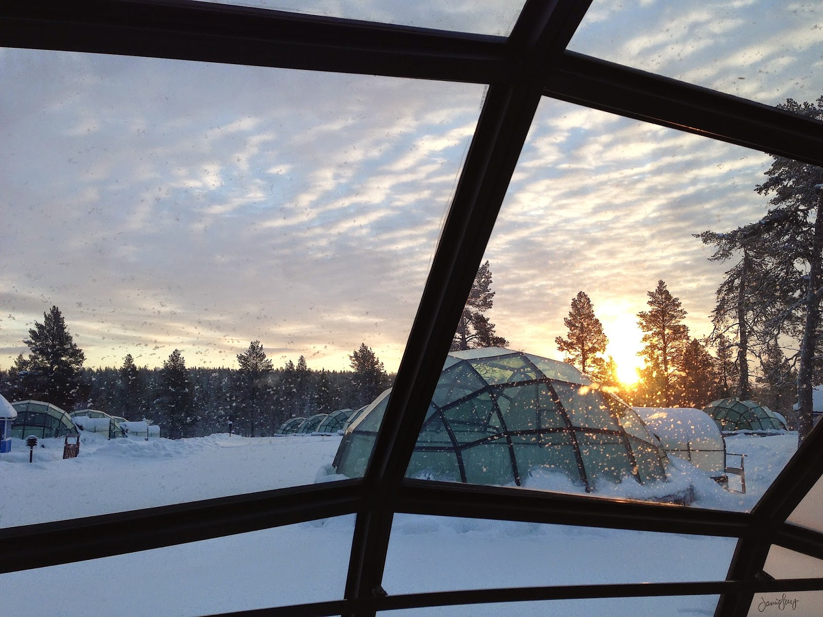Sunrise, Glass Igloo, Kakslauttanen, Finland