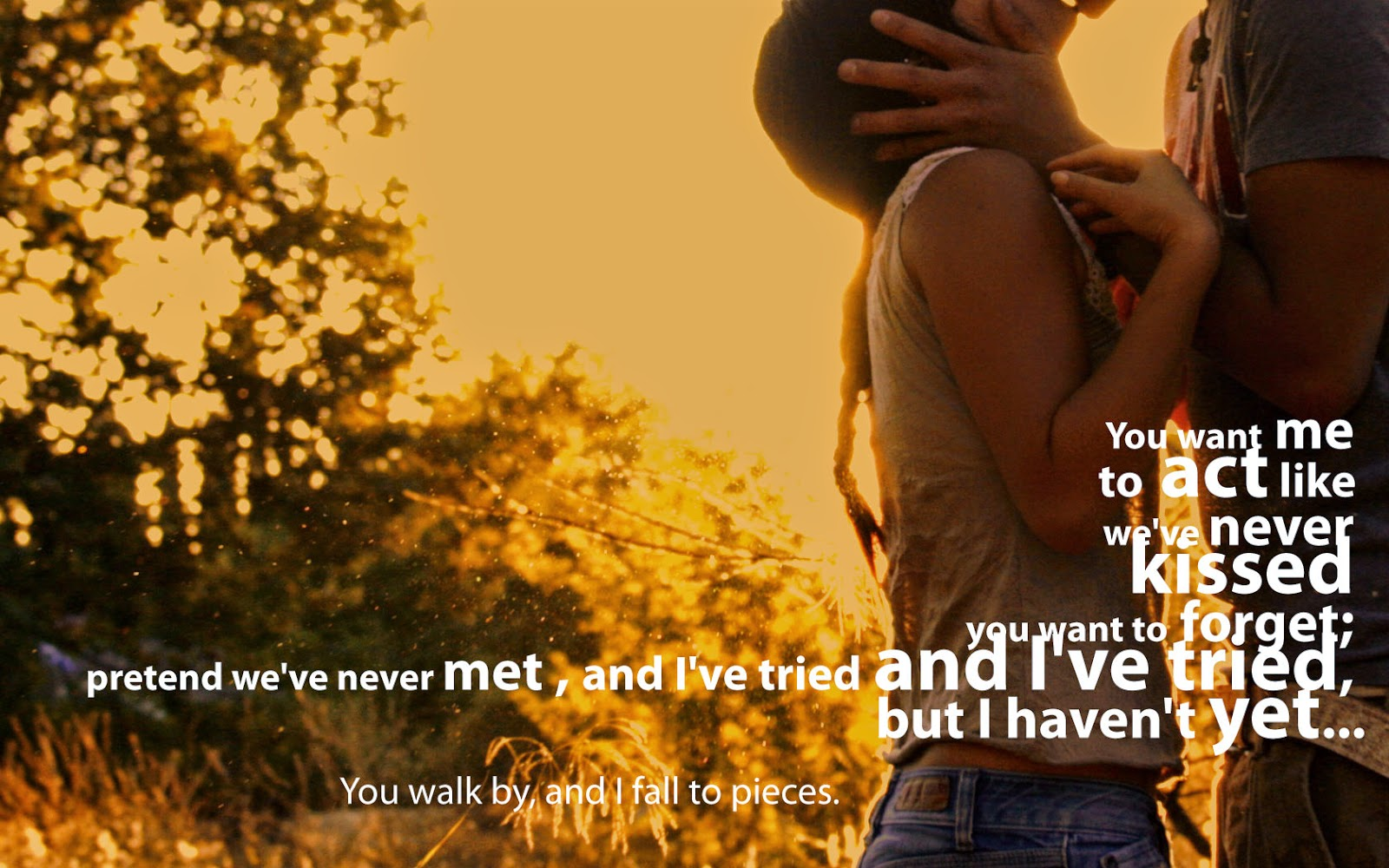 Beautiful Love Photography Image With Quote For