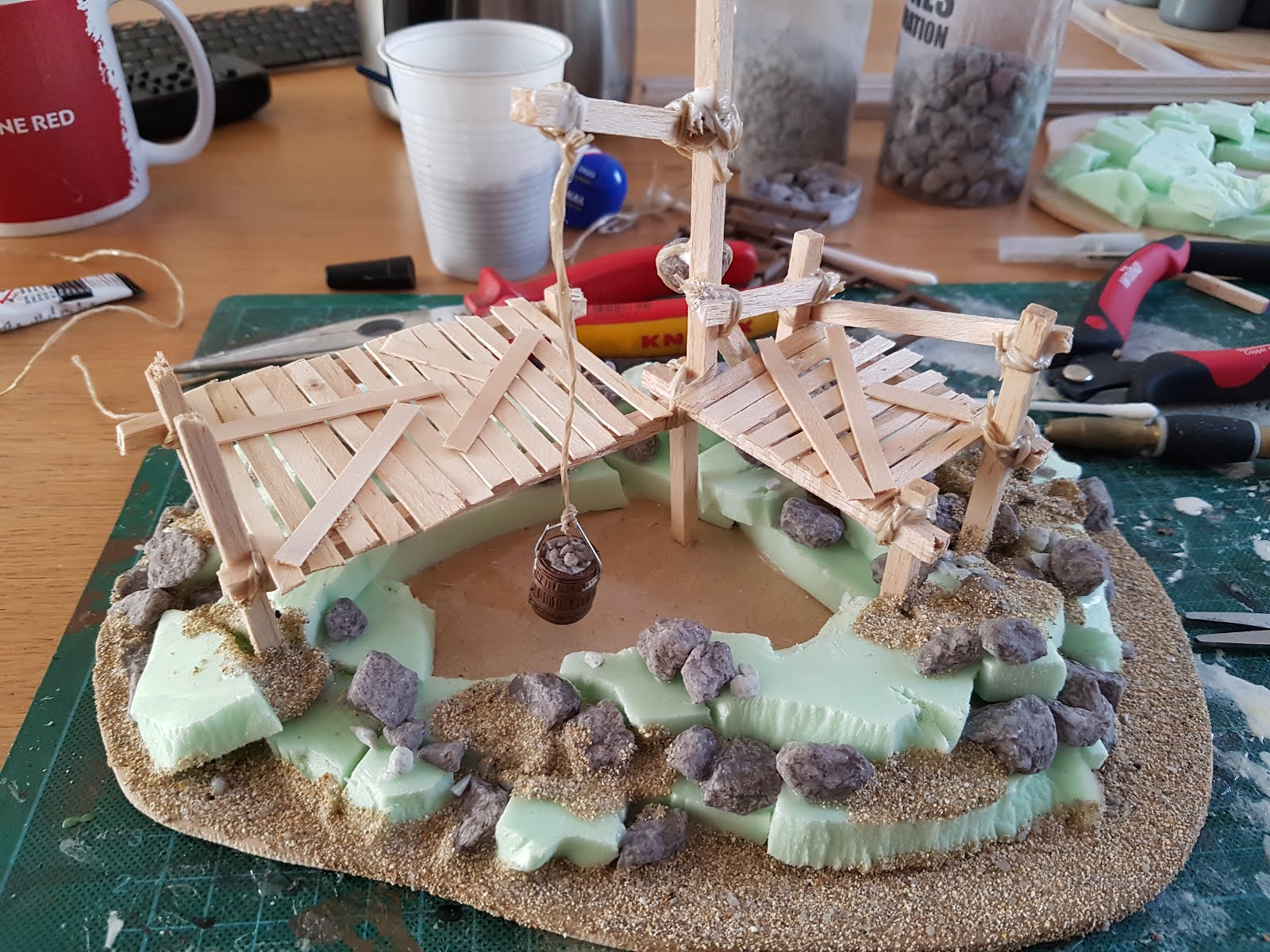 Another wargaming blog: Age of Sigmar terrain abandoned mine