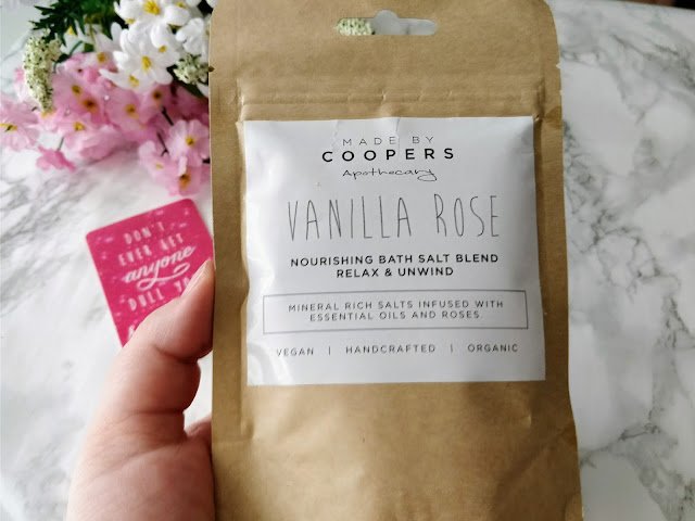 Made by Coopers Apothecary Vanilla Rose Nourishing Bath Salts