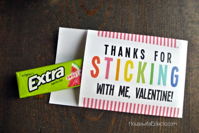 Free Printable Valentine Tag with 10+ Easy Gift Ideas - gum