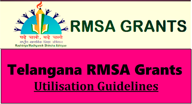 TS Rc Rc 5580 Guidelines/Norms for RMSA Annual Grants Utilisation |TS Rc Rc 5580 RMSA Annual Grants Utilisation Guidelines/Norms | Telangana Rashtriya Madhyamika Shiksha Abhiyan RMSA Grants Released and also Norms for Utilisation of those funds through School Management Development Committee SMDC | Certain Instructions issued on Utilisation of RMSA Grants by Directorate of School Education Telangana State ts-rc-rc-5580-rmsa-annual-grants-utilisation-norms-guidelines/2016/11/ts-rc-rc-5580-rmsa-annual-grants-utilisation-guidelines-norms.html