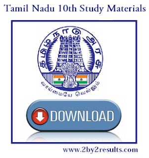 Tamil Nadu SSLC Study Materials | TN 10th Study Materials for all Subjects