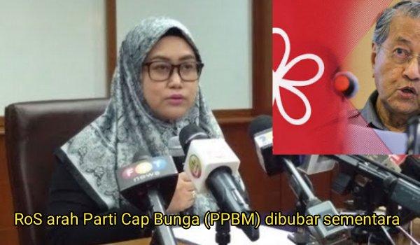 [Video] RoS arah Parti Cap Bunga (PPBM) dibubar sementara