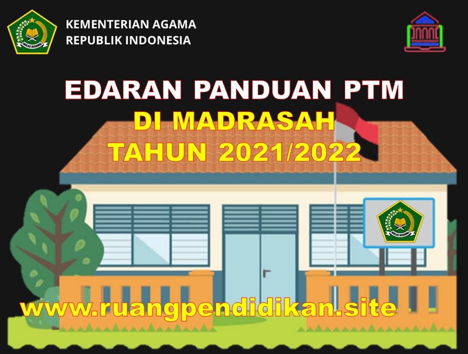 Surat Edaran Panduan PTM Terbatas Di Madrasah