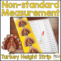 non-standard measurement turkey height strip