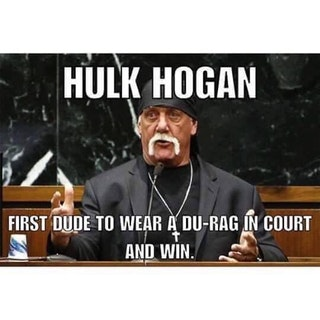 HULK HOGAN is the first dude to wear a du-rag in court and win.  PYGEAR.COM