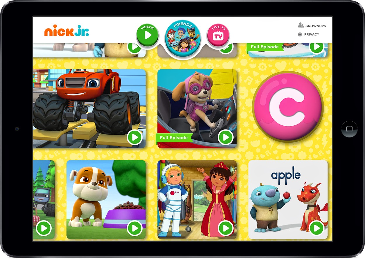 Nickalive Nickelodeon Usa Launches Nick Jr App