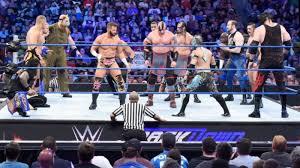 Wrestler fighting in ring