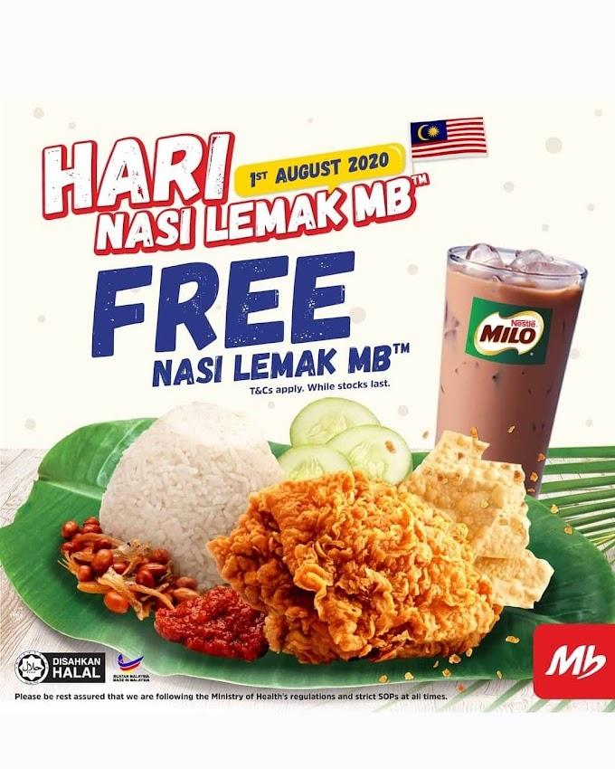 Nasi Lemak MarryBrown PERCUMA Seluruh Malaysia