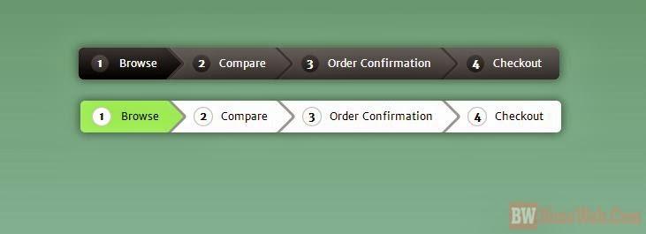 100% Pure CSS3 Breadcrumb Navigation