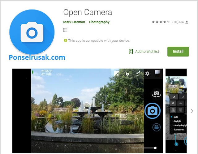 Tutorial open camera aplikasi.