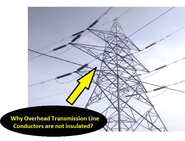 transmission line not insulated