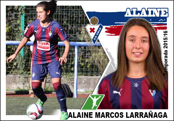 Gorriteando un poco: Cromo Sd Eibar femenino 2015/16, ALAINE MARCOS ...