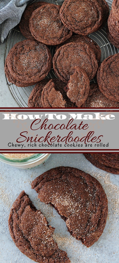 Chocolate Snickerdoodles #desserts #cakerecipe #chocolate #fingerfood #easy