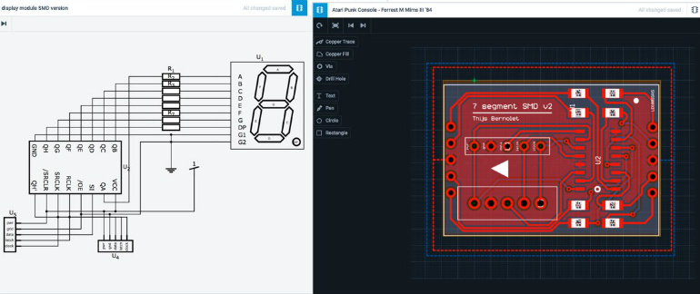 AutoDesk Circuits - PCB Design!