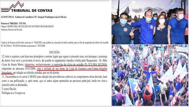 RIBAMAR: Tribunal de Contas repara erro e ribamarenses engrossam apoio à candidatura de Dr. Julinho