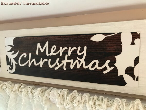 DIY Christmas Sign From A Gift Bag