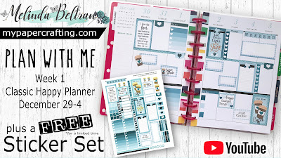 Plan With Me Week 1 CHP Video Spread With FREE Stickers