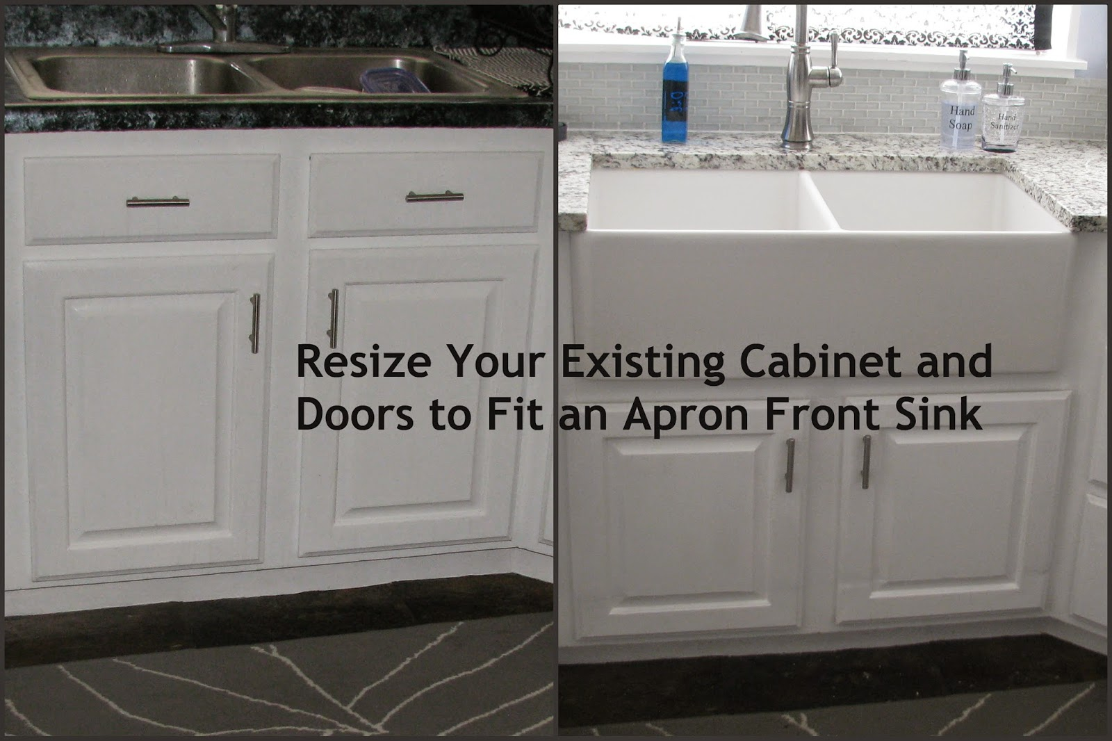 My So Called Diy Blog Resize Your Existing Cabinet And Doors To Fit. A  Front Sink Installed New Stainless Steel ...